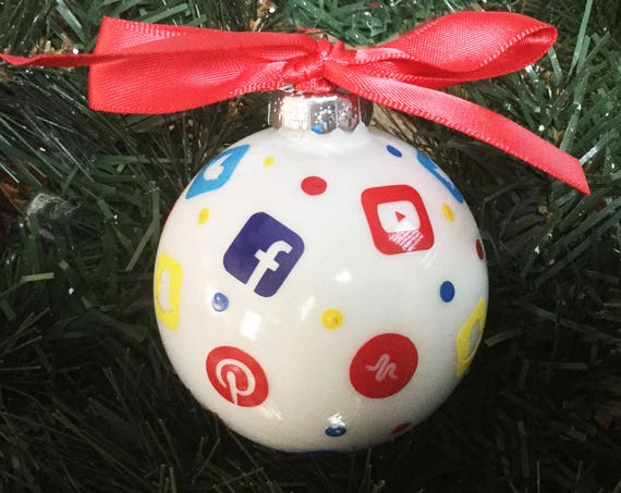 Personalized Social Media Christmas Ornament - Teen Christmas Ornament - Gift for teenager