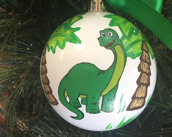 Personalized Dinosaur Shatterproof Christmas Ornaments
