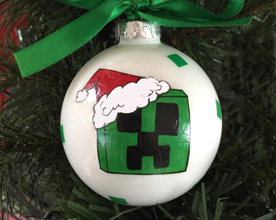 Personalized Santa Creeper Inspired Christmas Ornament