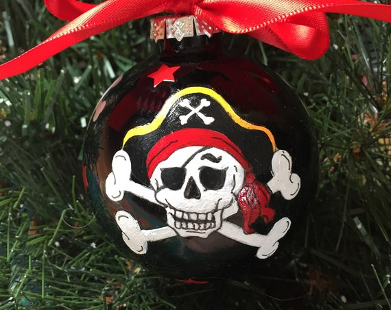 Personalized Pirate Christmas Ornament