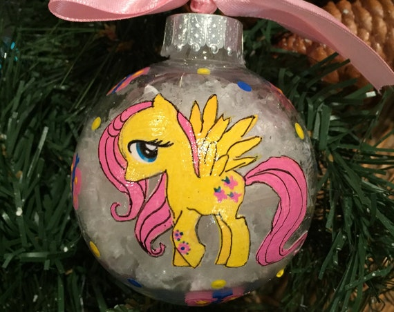 Personalized Fluttershy Inspired Shatterproof Ornament