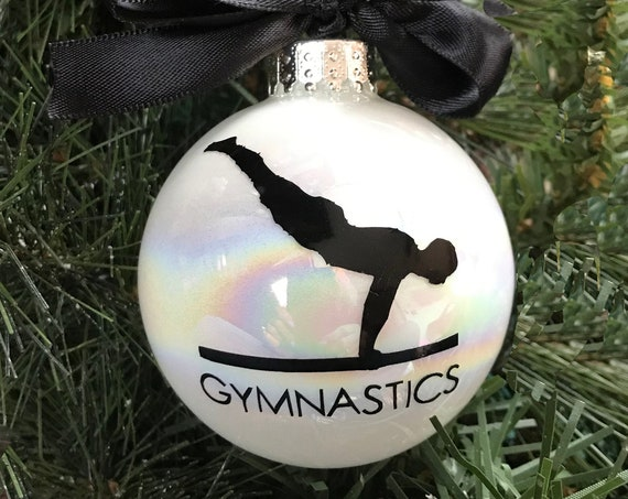 Personalized Men's Gymnastics Christmas Ornament