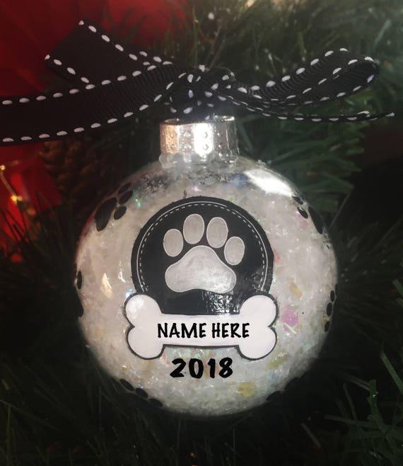 image 0 - Personalized Dog Paw Print Christmas Ornament Etsy