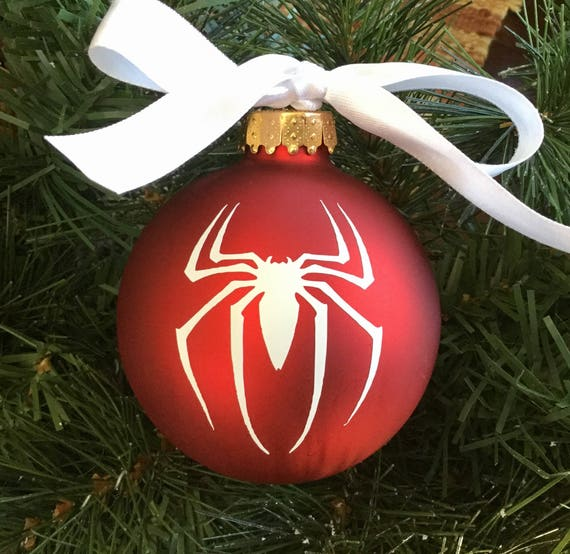 Spiderman Christmas.Personalized Spiderman Christmas Ornament