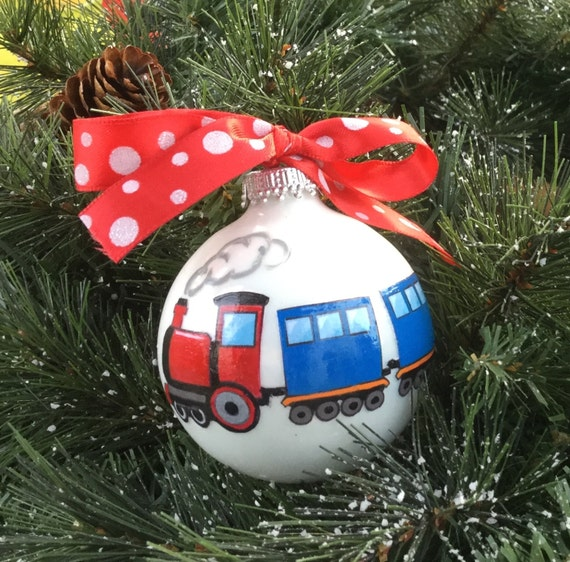Personalized Train Christmas Ornament