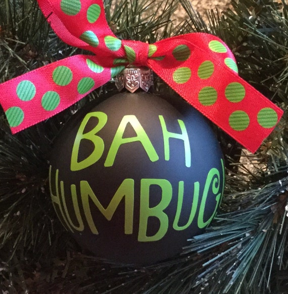 image 0 - Personalized Bah Humbug Christmas Ornament Etsy