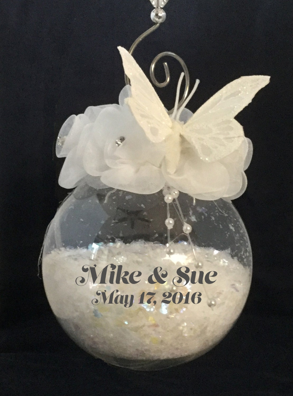 Personalized Wedding Ornament - Wedding Gift - Wedding Christmas ...