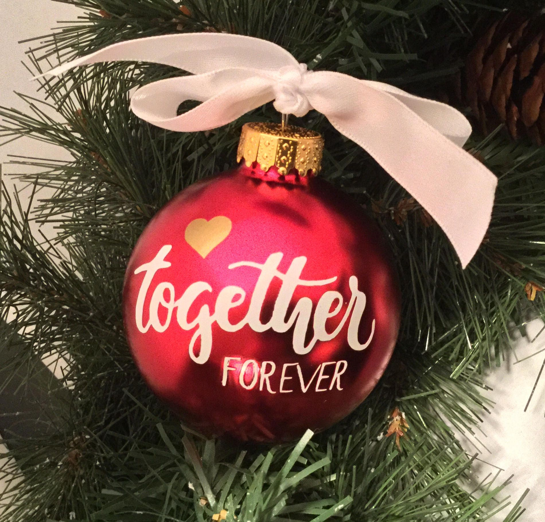 Personalized Together Forever Ornament - Wedding Gift Ornament ...