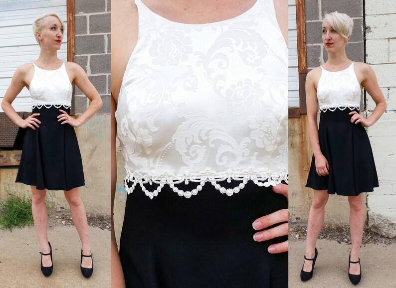 bbf549816fc 90 s Black   White Cocktail Dress JESSICA MCCLINTOCK