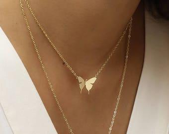 Butterfly Chokers Necklace Animal Choker Christmas Gift Layered Choker Necklace Set Art Teacher Gift  - SBFN