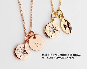 Inspirational Necklace Dainty Compass Necklace College Graduation Gift For Her Personalized Graduation Wanderlust - DCN