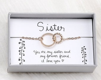 Muse Infinite Sistser Gifts from Sister Necklaces for Big Sister Gifts for Sister Birthday Gift Best Sister Gift Sister Jewelry Little Sister Personalized Gifts