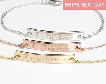 dbf9a5143484e Medical id bracelet | Etsy
