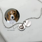 Custom Portrait Personalized Gift Dog Mom Gift Pet Gift Pet Memorial Dog memorial Cat Jewelry Dog Grandpa Best Friend Gifts Christmas -CN-AP