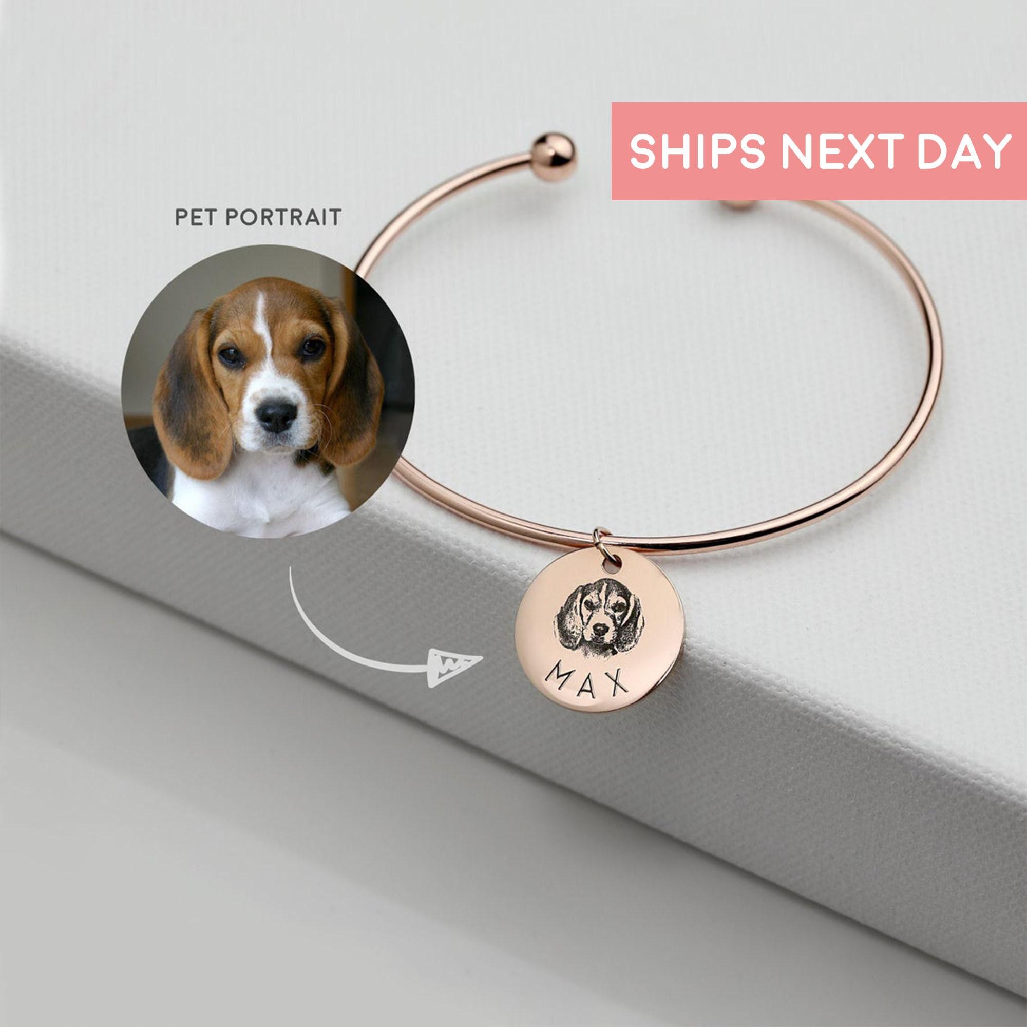 DIY Photo Bracelet,Christmas Gift Idea Custom Picture Bracelets,Dog Charm,Portrait Pet Pendant,Silver Photo Jewelry Custom Pet Bracelet