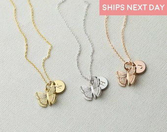Dainty Butterfly Necklace Personalized Gifts for Kids Girls Gold Butterfly Necklace For Kids Jewelry Inspirational Gift Kids -3BFN