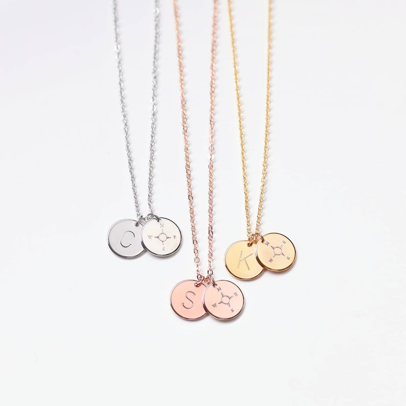Inspirational Initial Monogram Necklace Gift for teacher image 0