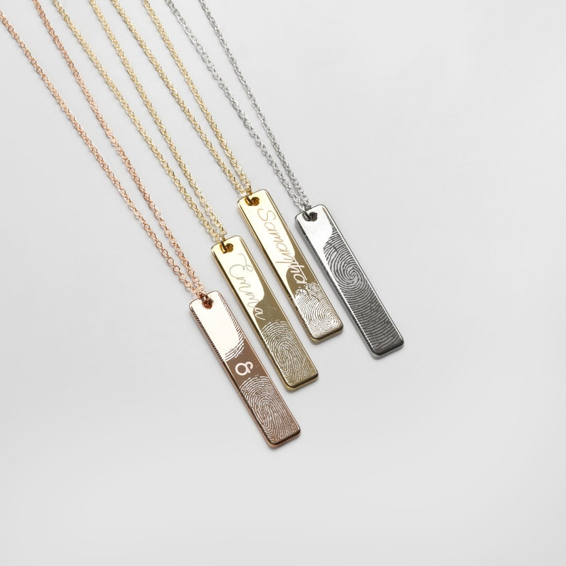 Jewelry is always a good choice. You can buy her a custom necklace with her name and her fingerprint on it to make it more special. Or you can put the fingerprint of yours or your baby on so that your family can be together and near her heart thoroughly.