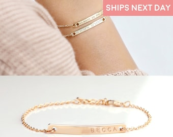 Personalized Bracelet For Women Personalized Jewelry Friendship Best Gift for Her Custom Bracelet Engraved Bracelet Bridesmaid Proposal -2Br