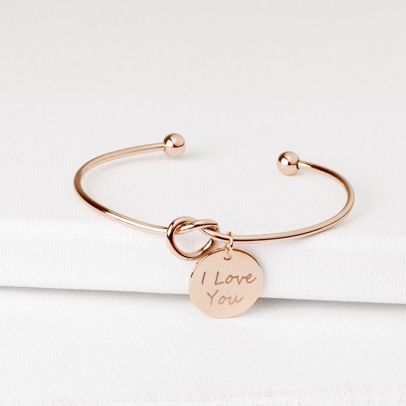 KBR-LC-D Actual Handwriting Bracelet Personalized Handwriting Jewelry Matron of Honor Gifts Custom Gift Women Anniversary Gift Ideas
