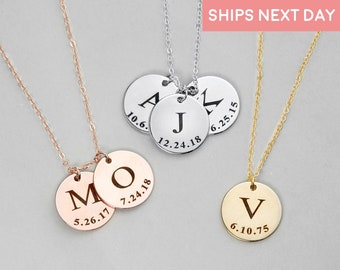 Personalized necklace for Women Personalized Jewelry Engraved Necklace Custom Necklace Initial Necklace with Initials - LCN-ID-L-TNR