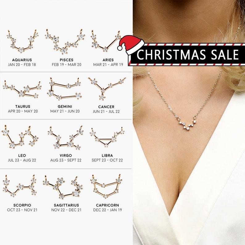Zodiac Jewelry Celestial Personalized Jewelry Best Friend Gift image 0