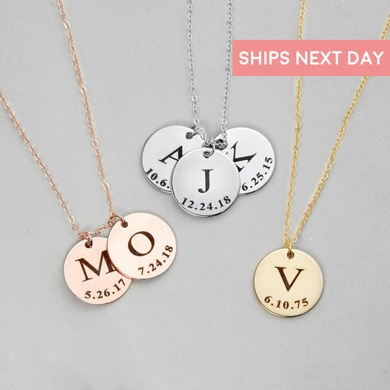 Personalized Necklace Initial Necklace Grandmother Gift Mom Gift Custom Necklace Gift For Mom Valentines Day Gift For Women Lcn Id L Tnr