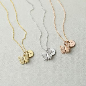 Kids Initial Necklace BF Gift Heart Necklace isewcute Little Girls Jewelry Personalized Girls Necklace Flower Girl Gift Birthday Gift