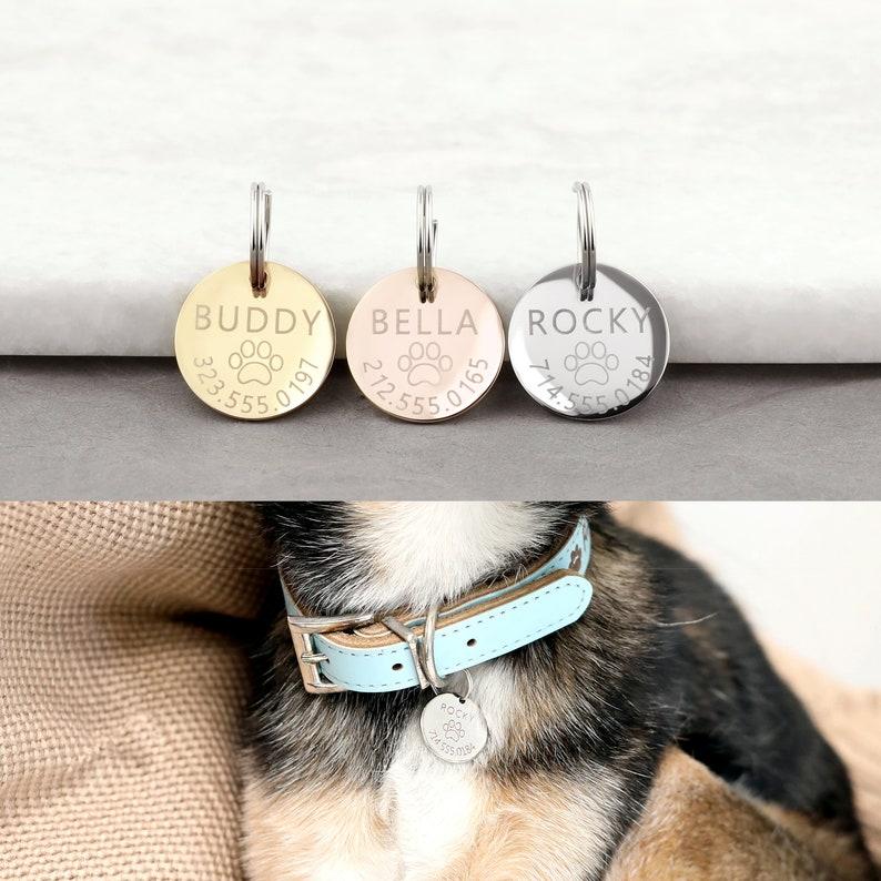 Dog Gift Personalized Dog Tag Pet Custom Collar Tag Dog ID Tag Cat Collar Personalized Pet Necklace LCT
