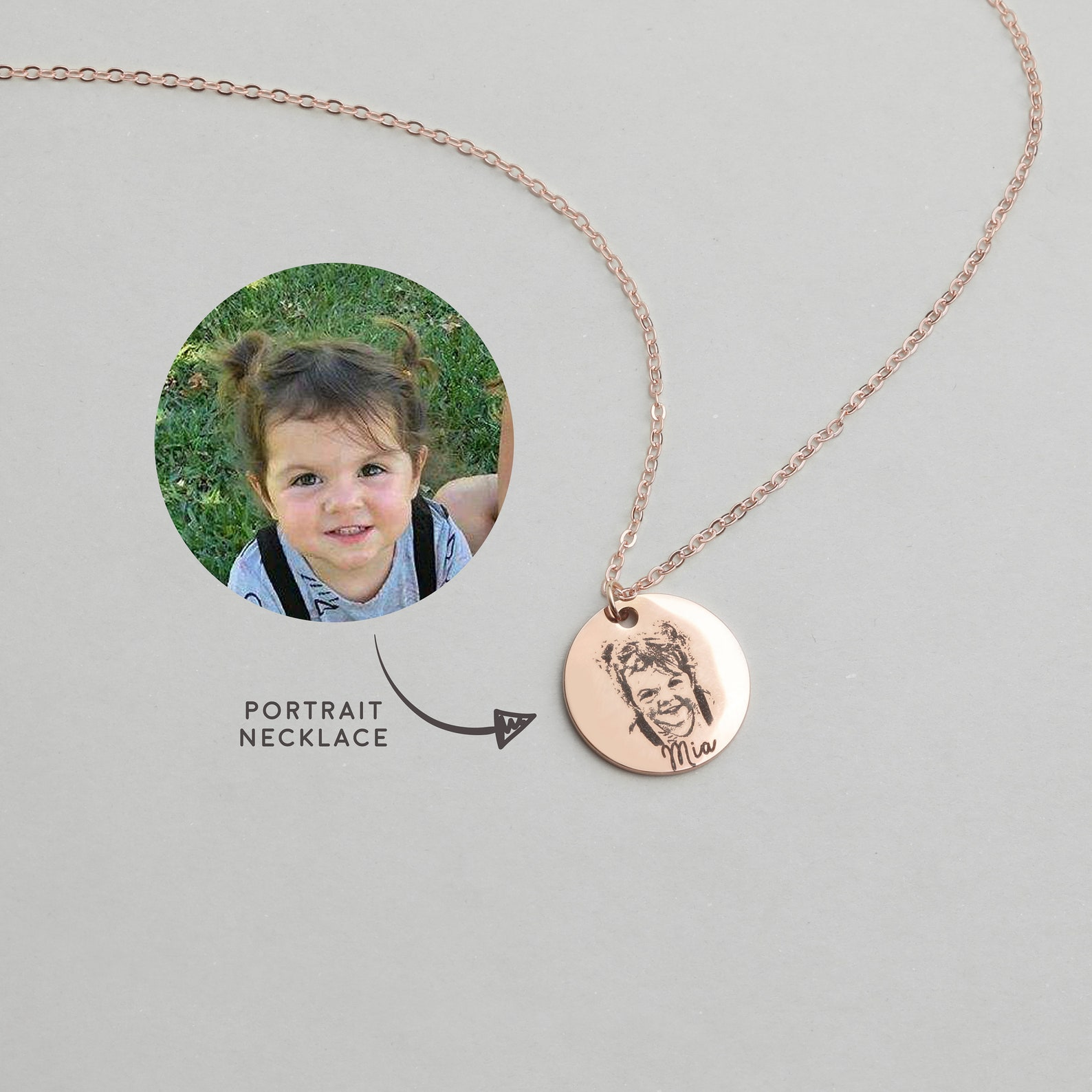 Custom Portrait Necklace