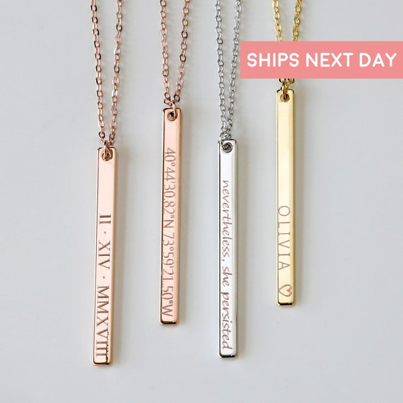 personalized necklaces for women best friend gifts etsy