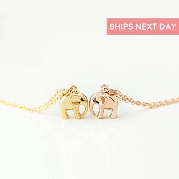 3D Elephant Pendant Necklace