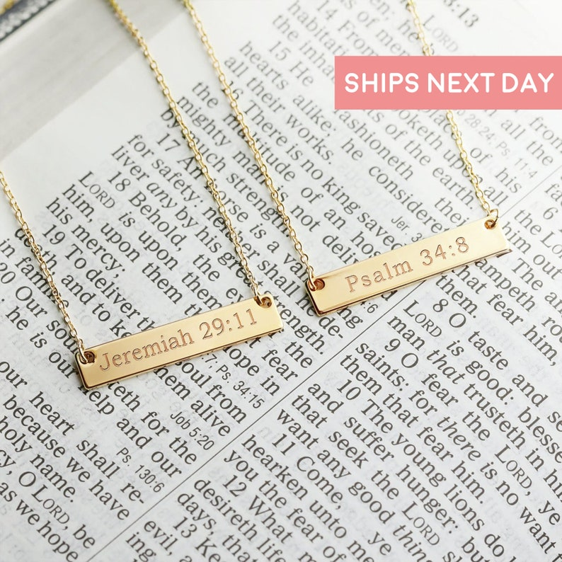 Christian Necklace Christian Jewelry Faith Necklace Religious image 0