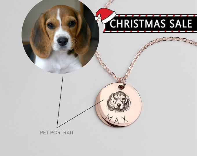 Custom Dog Heart Necklace \u2022 Dog Jewelry Pet \u2022 Mom Dog Lover Gift Personalized Pet Heart Charm Unique Pet Gift Outline Minimal Dog Pendant