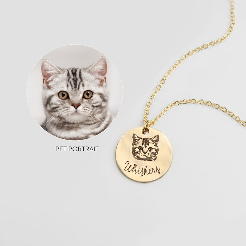 Personalized Jewelry Pet Portrait Necklace Personalized Gifts image 0