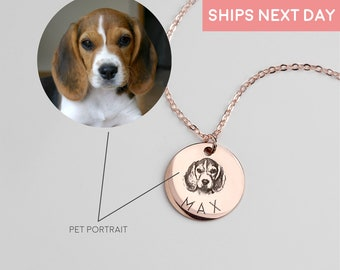 Personalized Gifts for Mom Dog Mom Personalized Necklace for Women Dog Necklaces Pet Memorial Engraved Necklace Pet Portrait Custom - LCN-AP