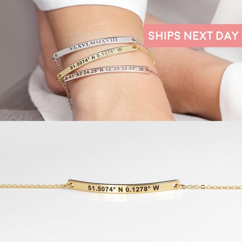 Personalized Bracelet Best Friend Jewelry Charm Bracelet image 0