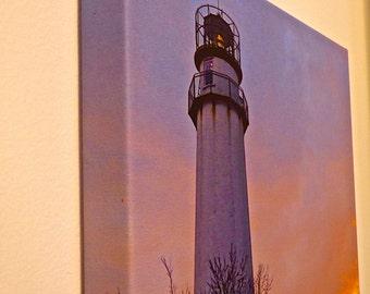 Lighthouse at Dusk 11x14 photo canvas