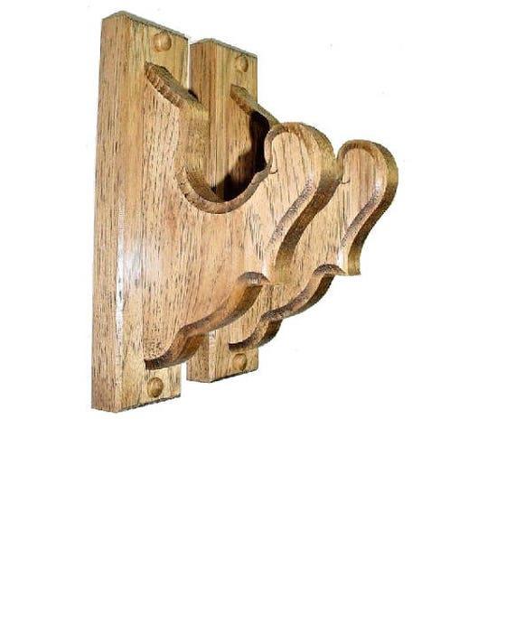 hickory holz gun rack kleiderb gel antike gewehr schrotflinte etsy. Black Bedroom Furniture Sets. Home Design Ideas