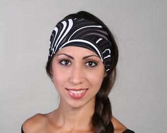 Headband in Charcoal Swirl