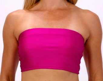 Bandeau Top in Celine Fuschia
