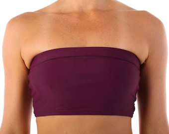 Bandeau in Eggplant Purple