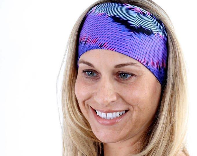 Headband, Nylon Headband, Nylon Headbands, Stretchy Headband, Yoga Headband, Running Headband, Boho Headband, Womens Headband in Horizons