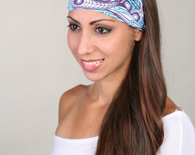 Fitness Headband, Yoga Headband, Work Out Headband, Running Headband, Fashion Headband, Get 4 For 20 Dollars in Spring in Purple