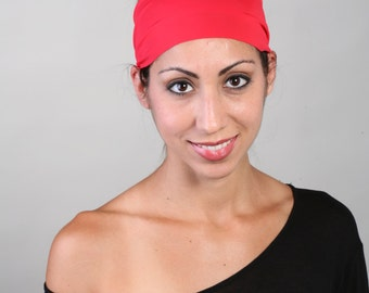 Yoga Headband, Fitness Headband, Workout Headband, Running Headband, Non-Slip Headband - Headband in Hot Tamale Red