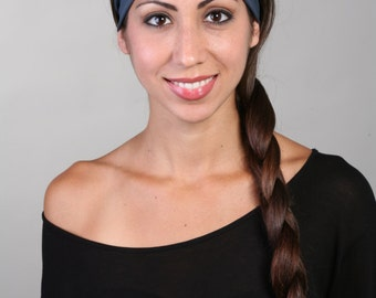 Women and girls gray yoga, fitness, running and workout headband in Shades of Gray