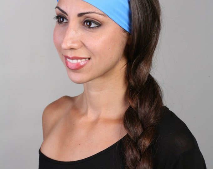 Yoga Headband, Fitness Headband, Workout Headband, Running Headband, Non-Slip Headband - Headband in Sky