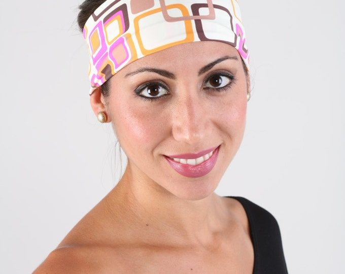 Women and girls geometric print yoga, fitness, running and workout headband, in Penelope Get 4 for 20 Dollars