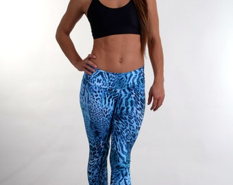 Yoga Leggings, Gym Leggings, Fun Leggings - Style #018 Leggings in Bacia