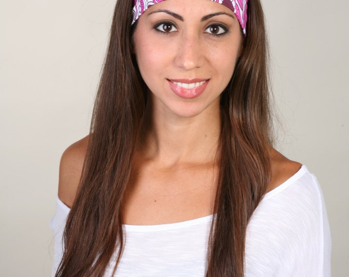Yoga Headband, Fitness Headband, Workout Headband, Running Headband, Non-Slip Headband - Headband in Paloma Pink